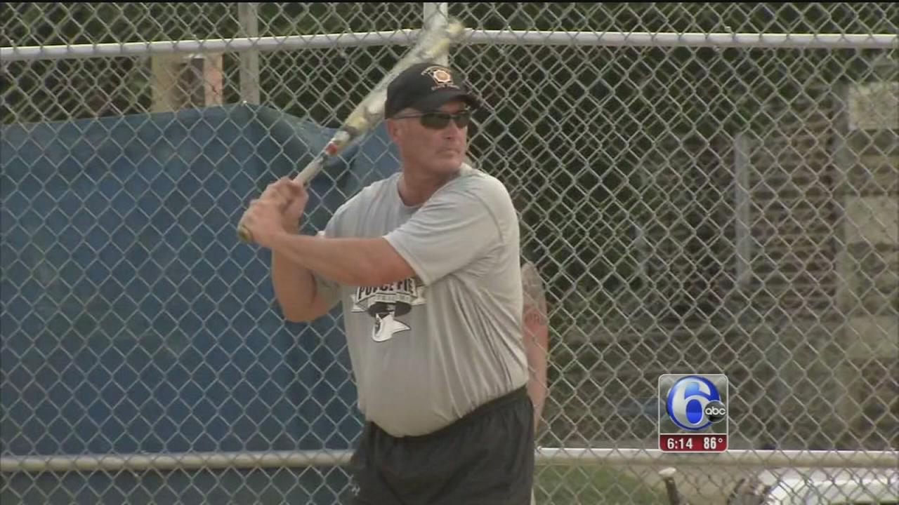 VIDEO: Charity game pits Philly police vs. firefighters