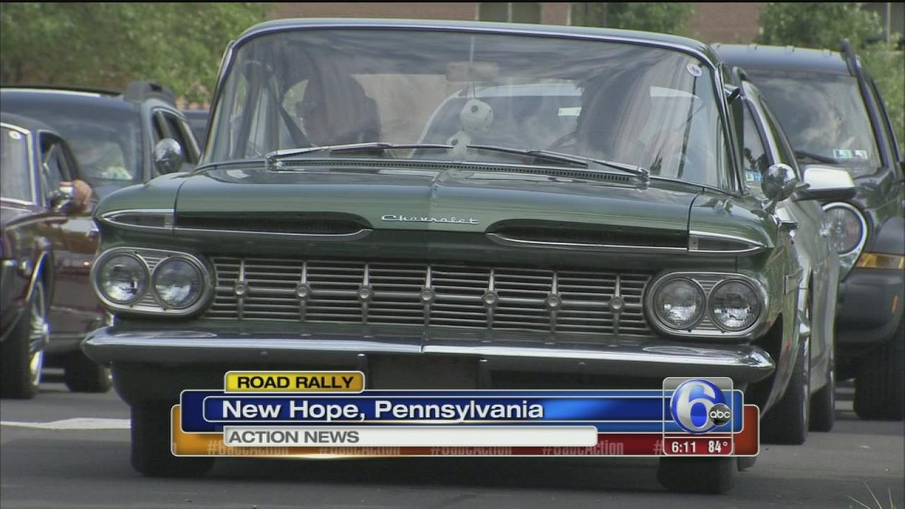 VIDEO: Road rally to support charitable car show