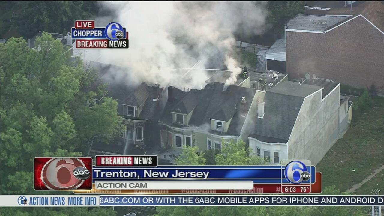 VIDEO: Multi-alarm fire in Trenton