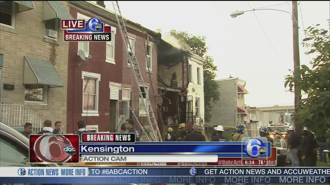 VIDEO: Explosion, fire in Kensington