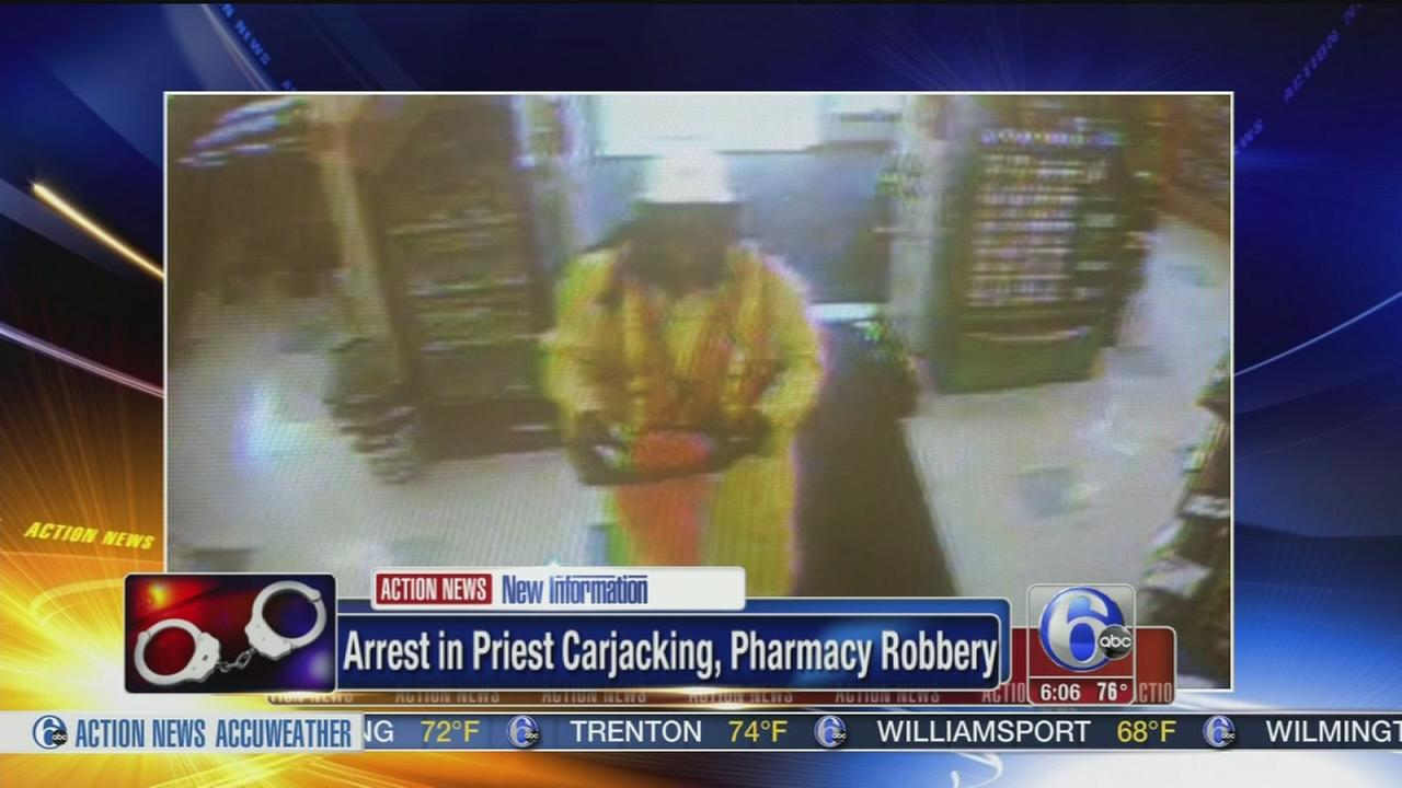 VIDEO: Arrest in robbery, priest carjacking