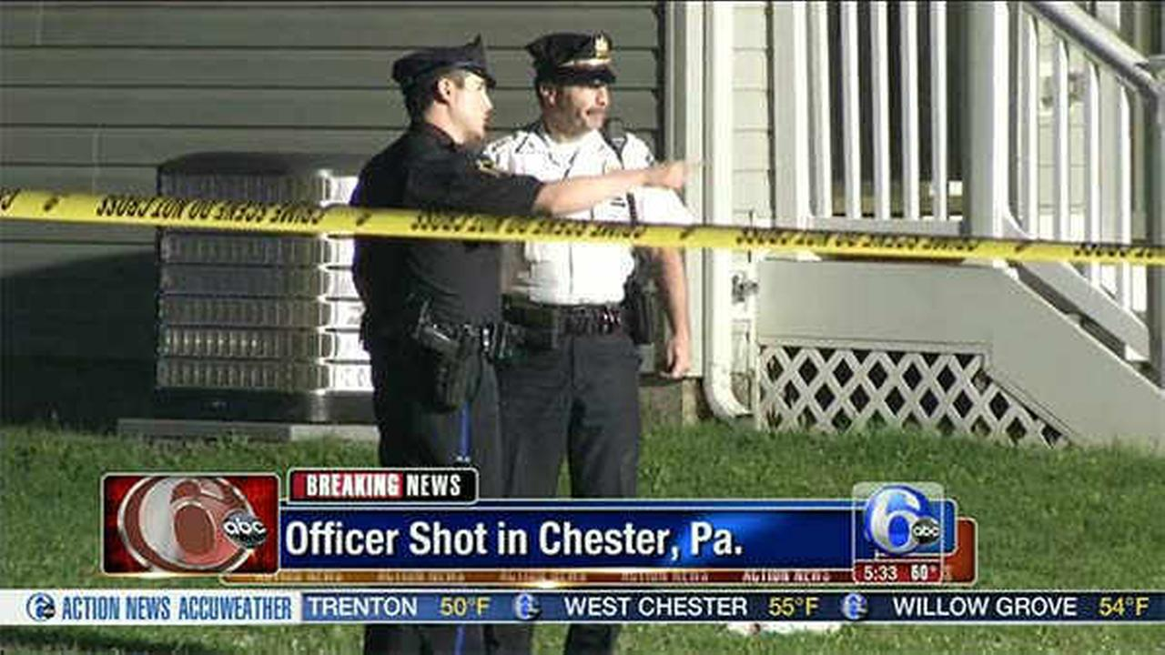 Pictures from shooting of Chester police officer