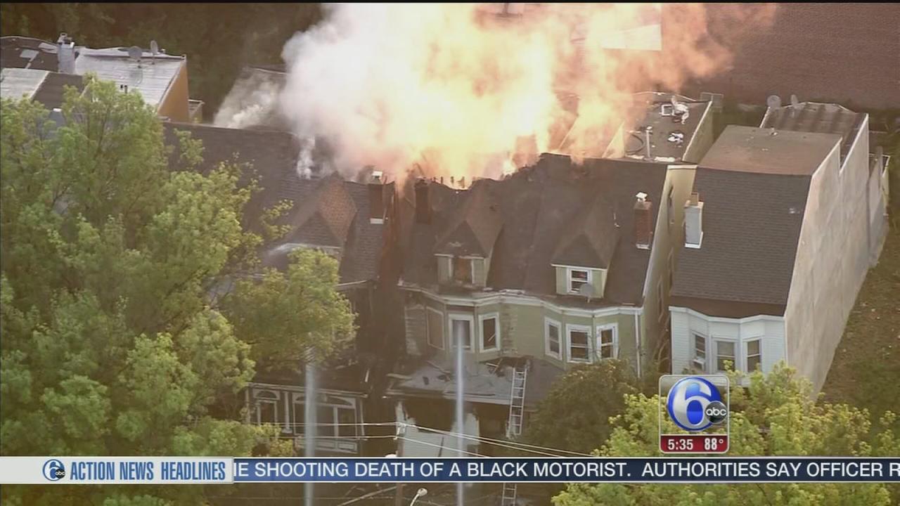 VIDEO: Multi-alarm fire displaces residents in Trenton