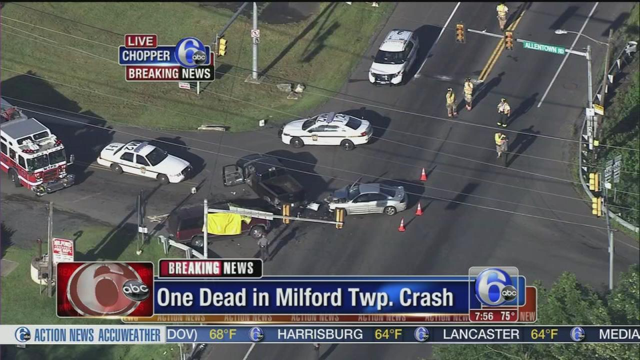 VIDEO: 1 dead after crash in Bucks County