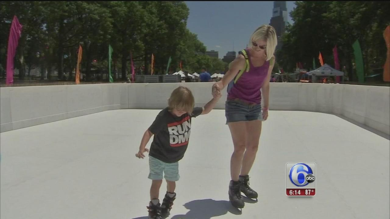 VIDEO: Christmas in July on Eakins Oval