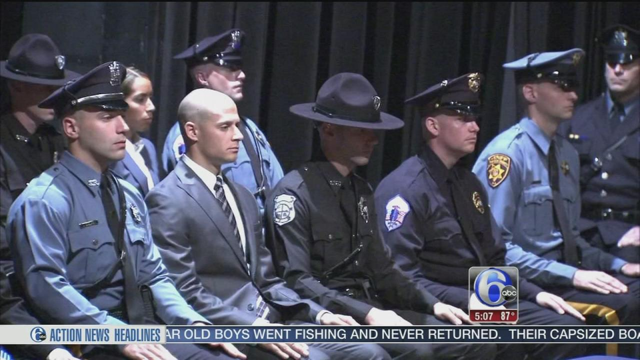 Officers graduate from police academy in Mercer County, New Jersey