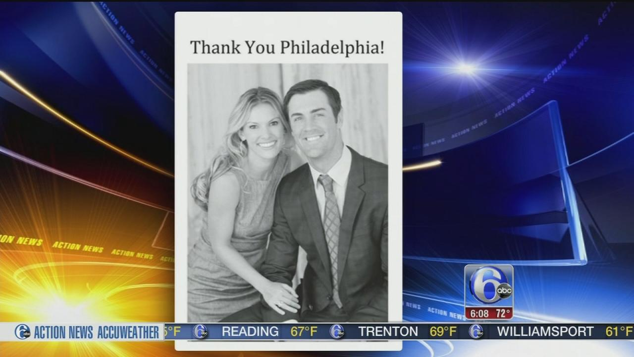 VIDEO: Cole Hamels thanks Phillies fans in newspaper ad
