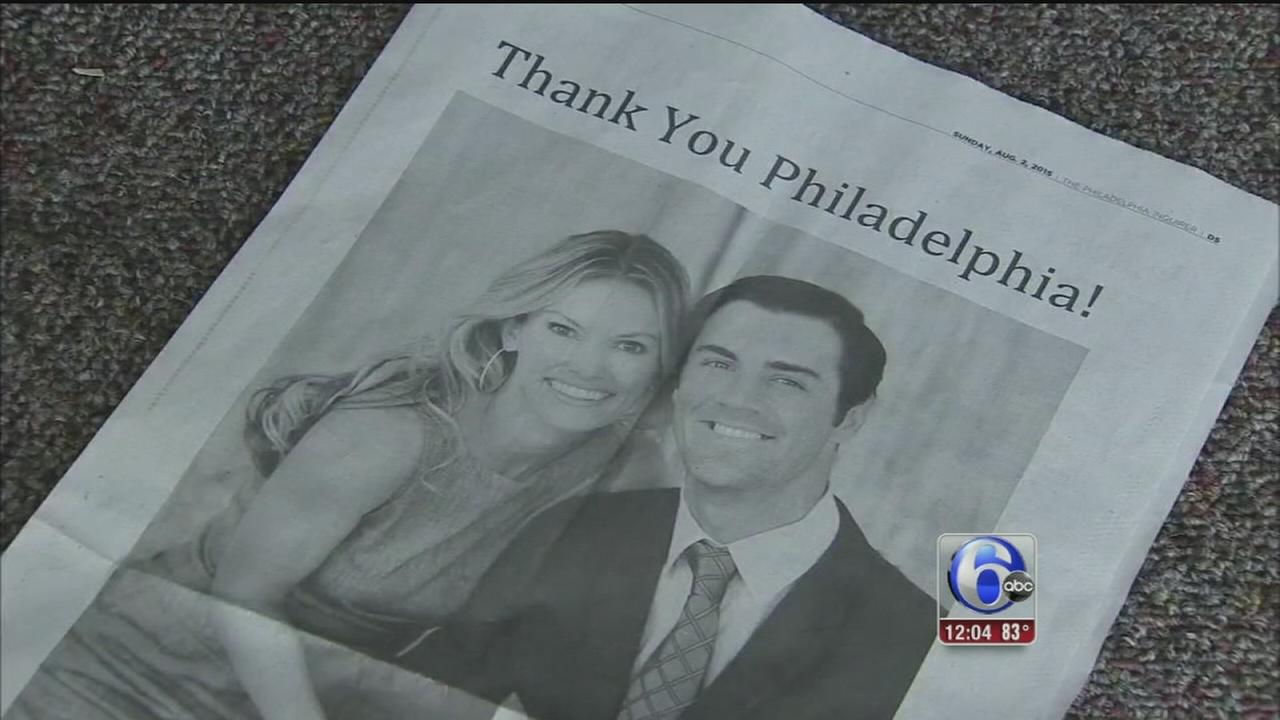 VIDEO: Cole Hamels thanks Phillies fans in full page ad
