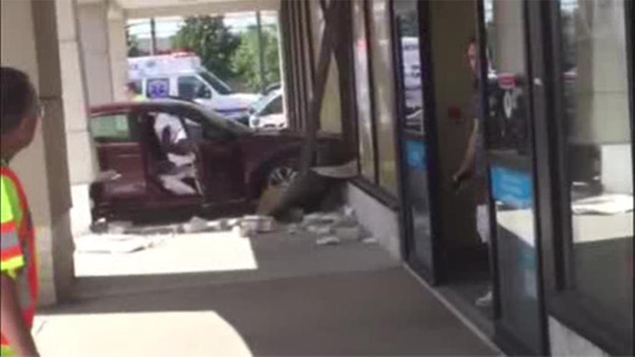 Car slams into Petco store in Bensalem, Pa.