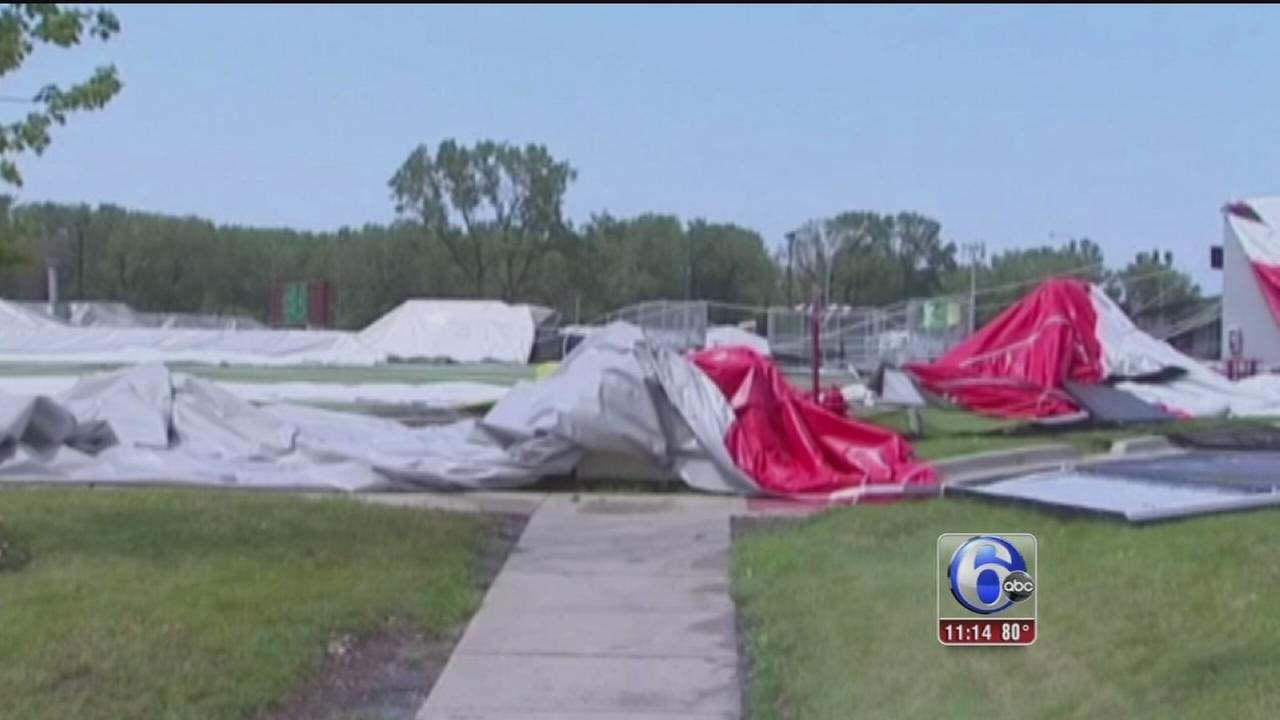 VIDEO: 1 dead, several injured in tent collapse in suburban Chicago