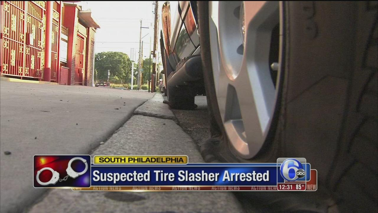 VIDEO: Tires slashed in South Phila.