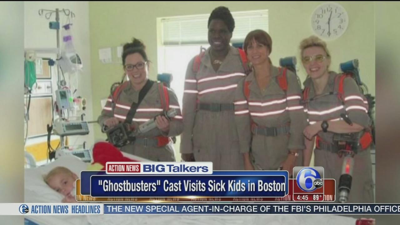 VIDEO: Ghostbusters cast visits sick kids in Boston