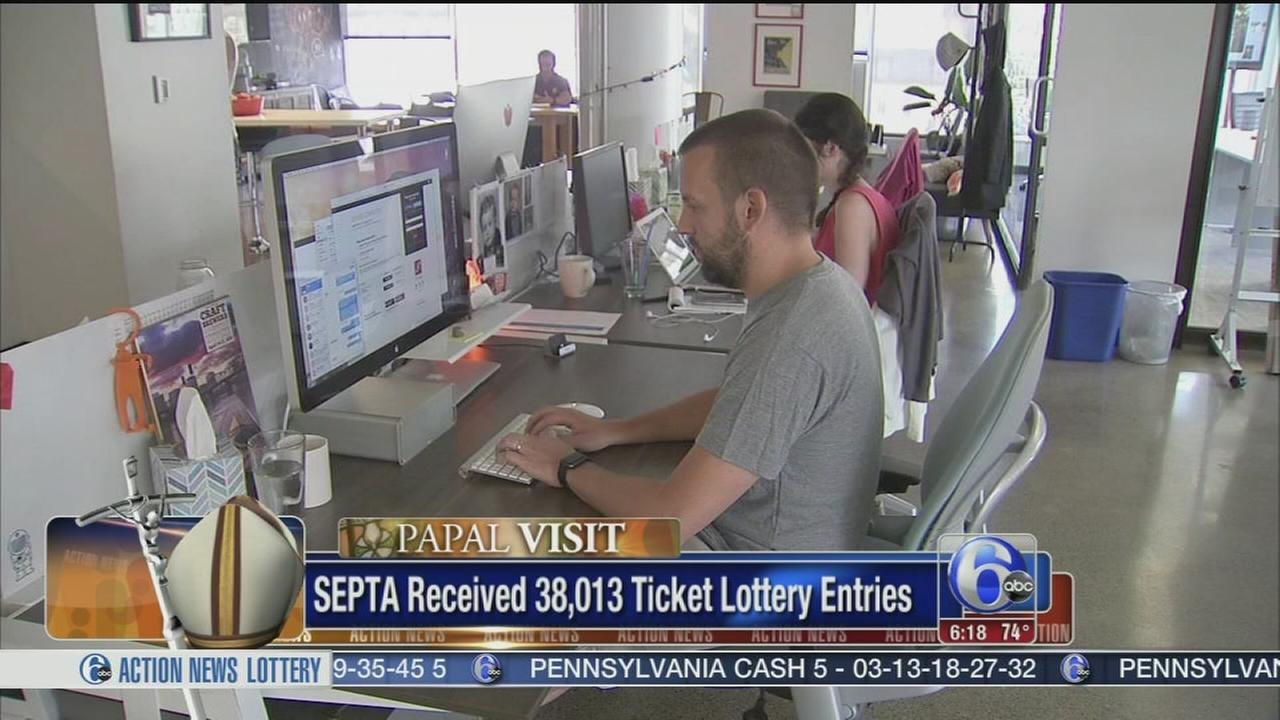 VIDEO: Fewer than expected in SEPTA pope lottery