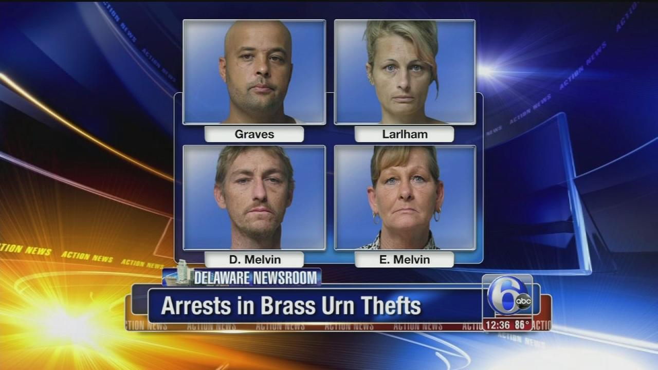 VIDEO: Cemetery workers arrested for scrapping brass urns