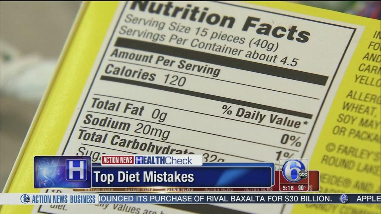 VIDEO: Dieting?  Here are some common mistakes