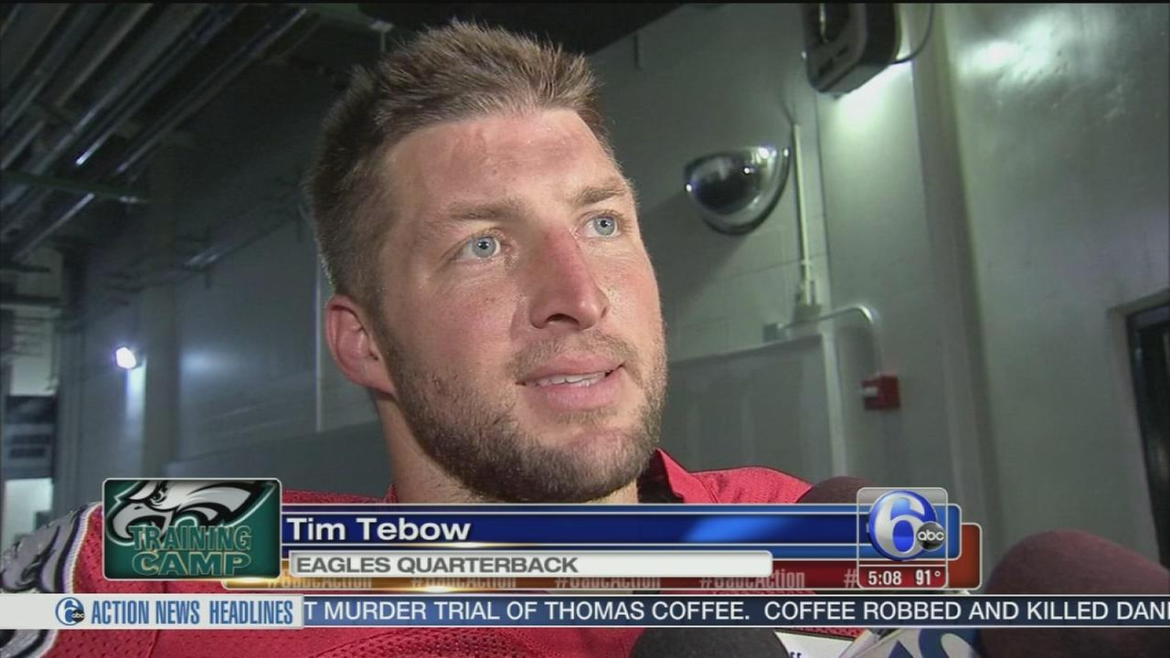 VIDEO: Tebow at Eagles camp: ?Blessed to be out here?