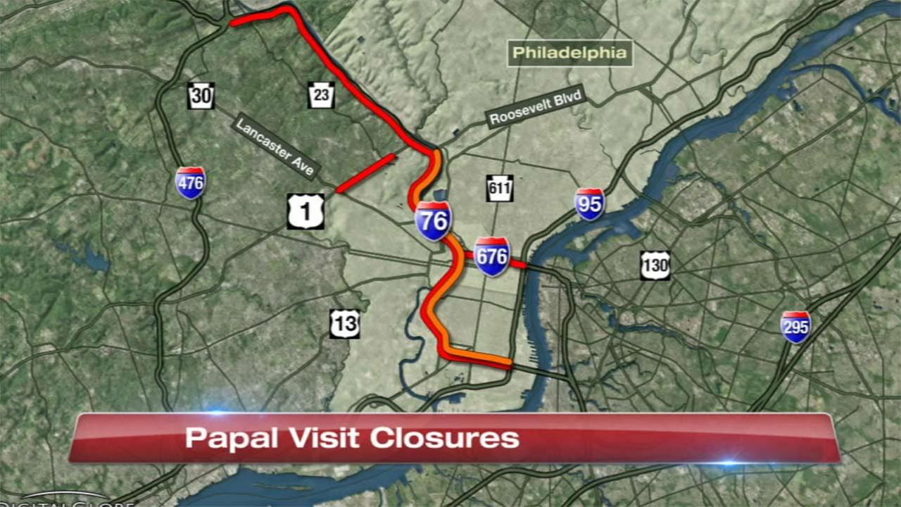 Major highway closures in Philadelphia for Pope Francis' visit | abc7chicago.com