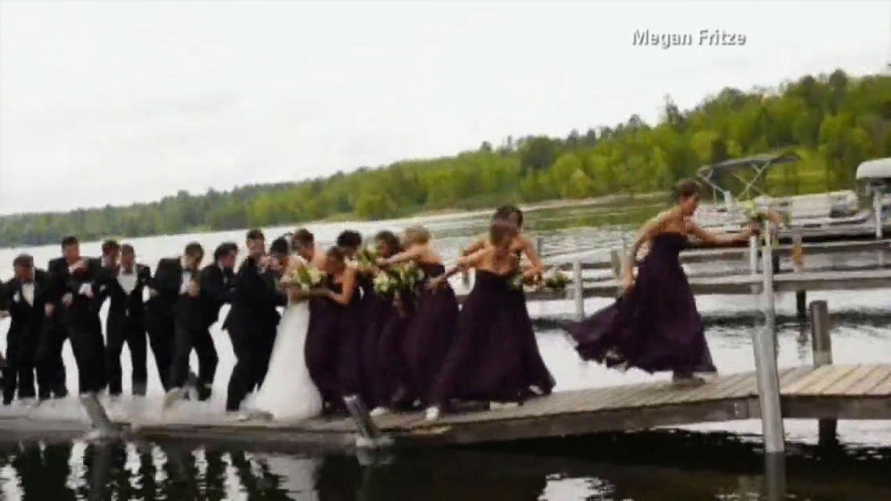 PHOTOS: Dock collapses under wedding party