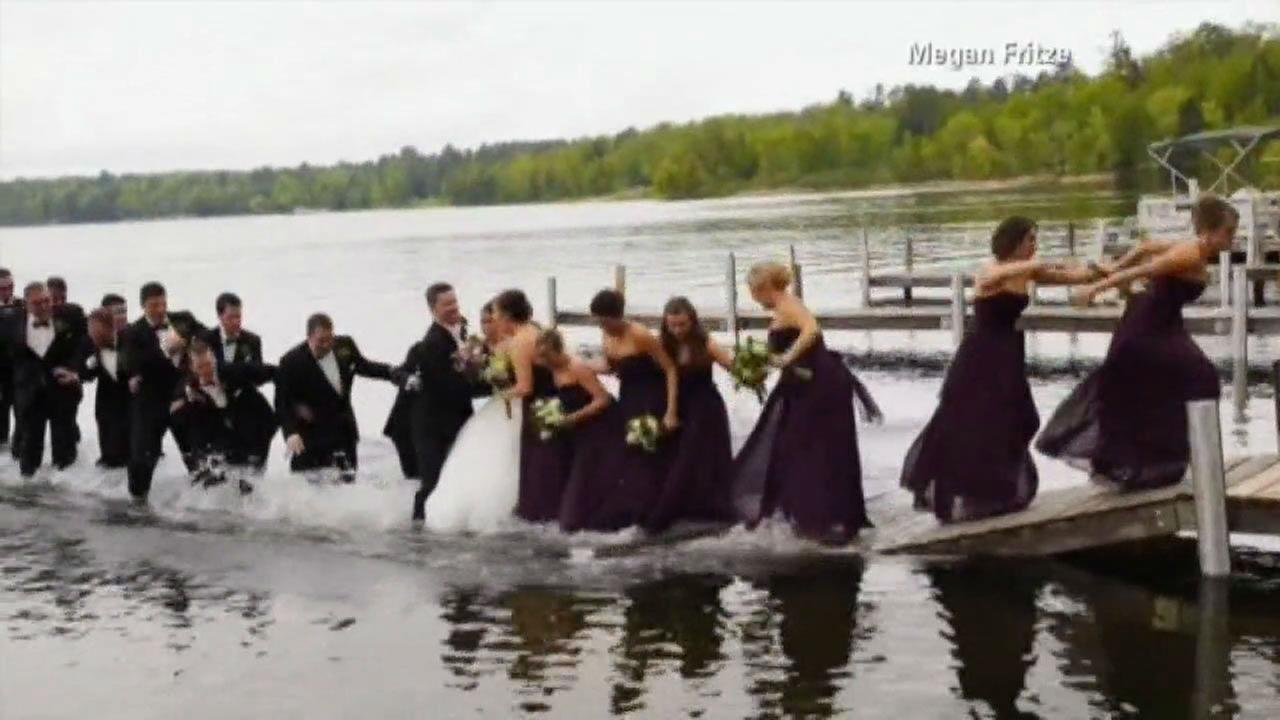 PHOTOS: Dock collapses under wedding partyMegan Fritze