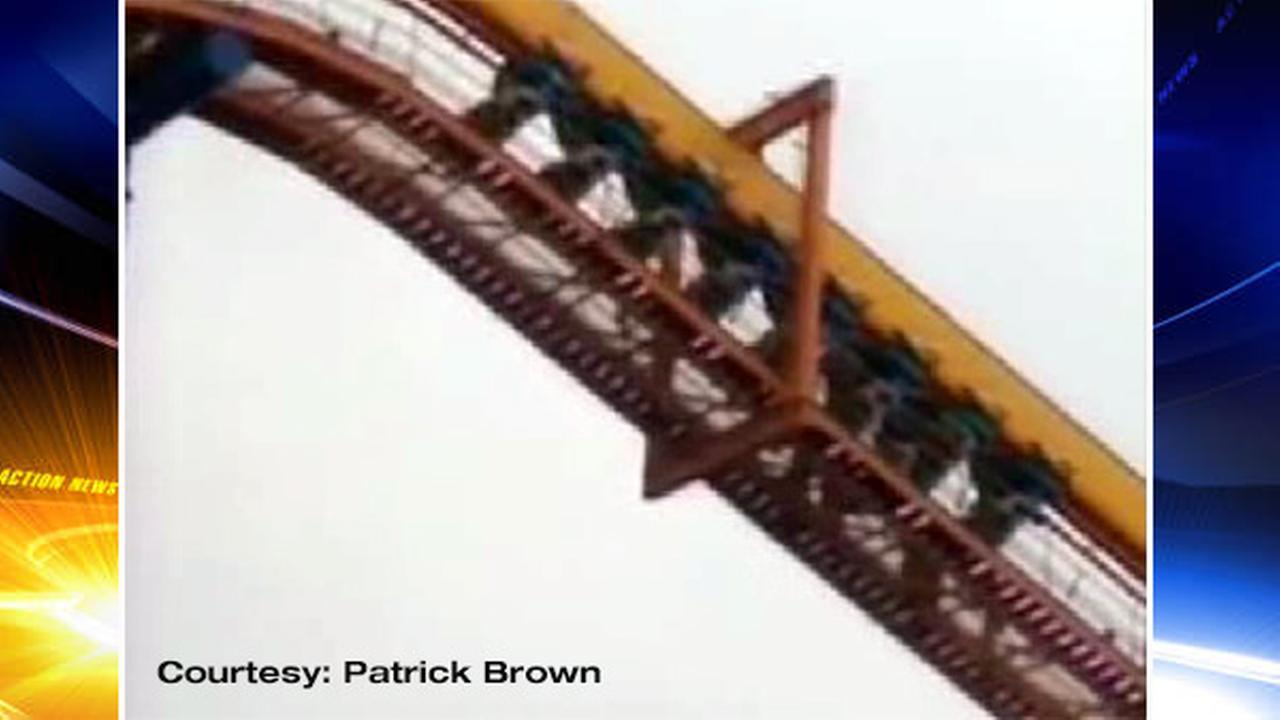 Dorney Park stuck roller coaster