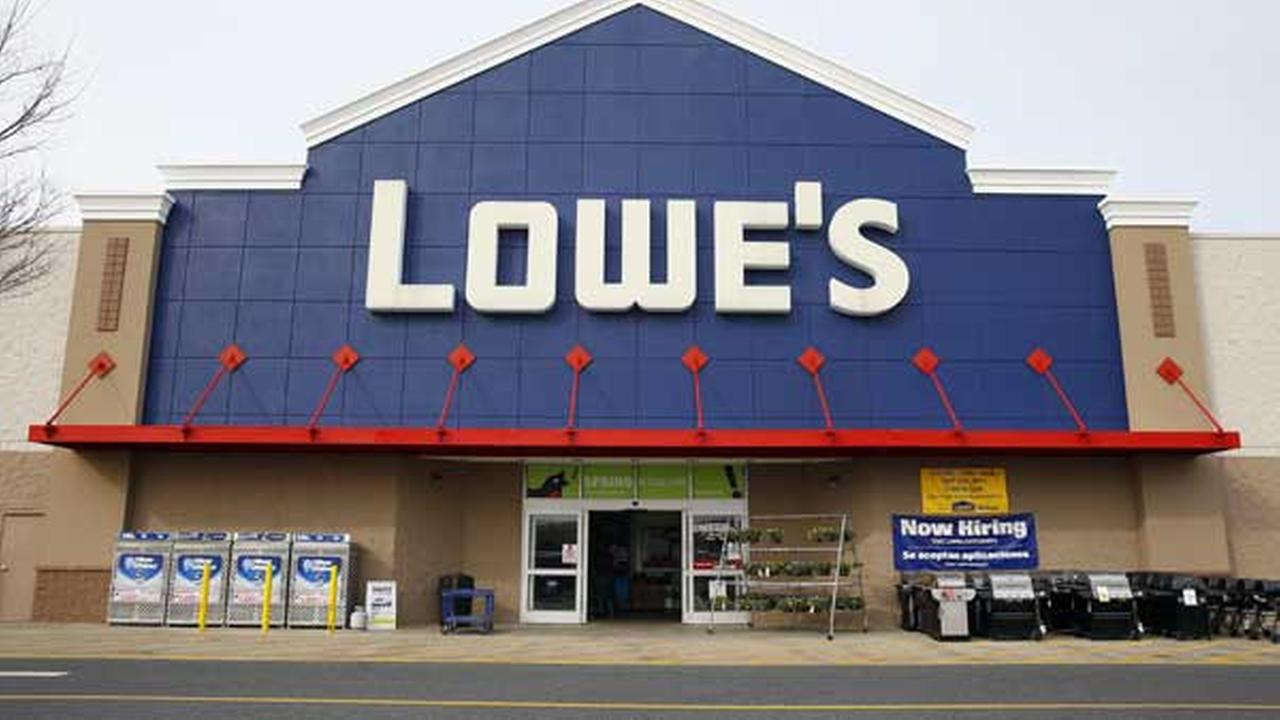 This March 25, 2014 photo shows a Lowes store in Philadelphia.