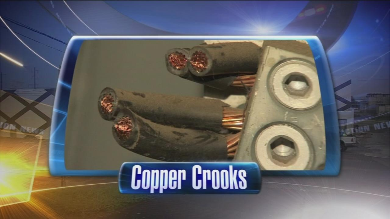 VIDEO: Thieves steal $1M in copper