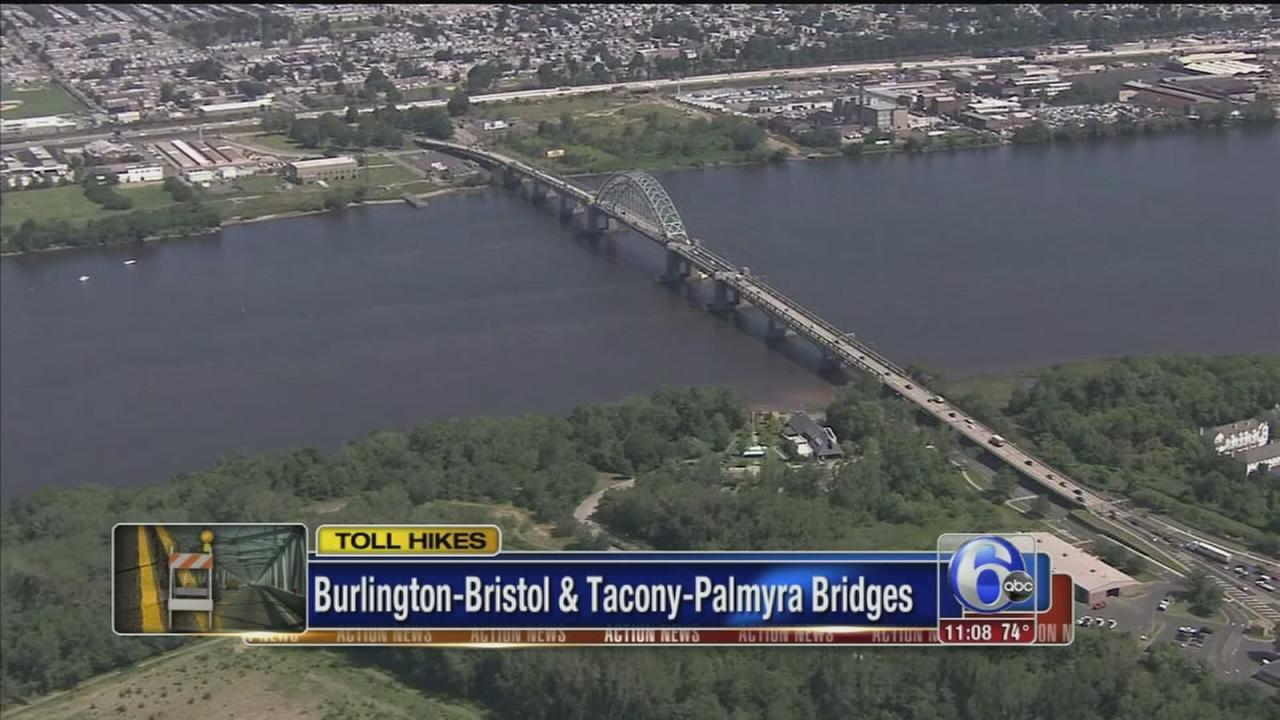 VIDEO: Toll hikes approved for 2 Burlco bridges