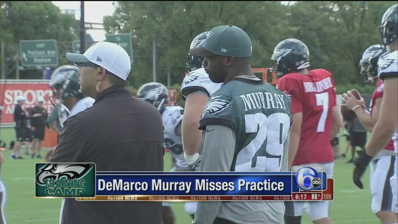 VIDEO: Eagles RB DeMarco Murray misses practice... again