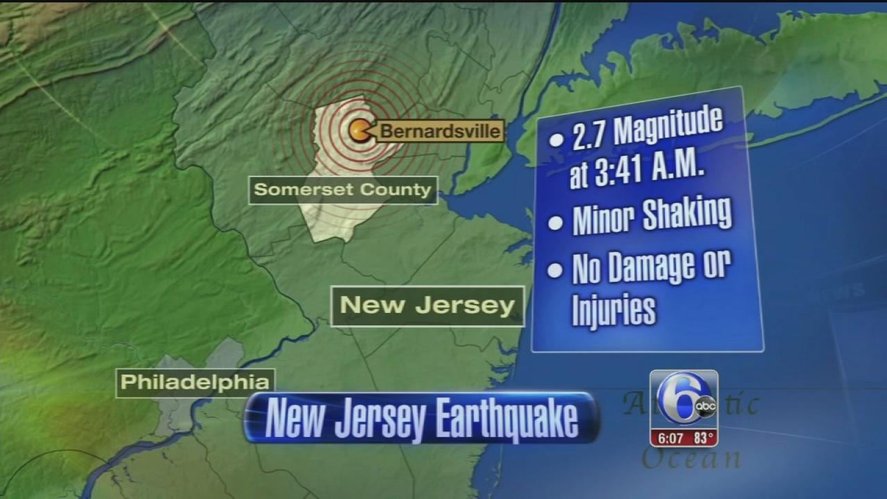 VIDEO: Small earthquake shakes parts of New Jersey