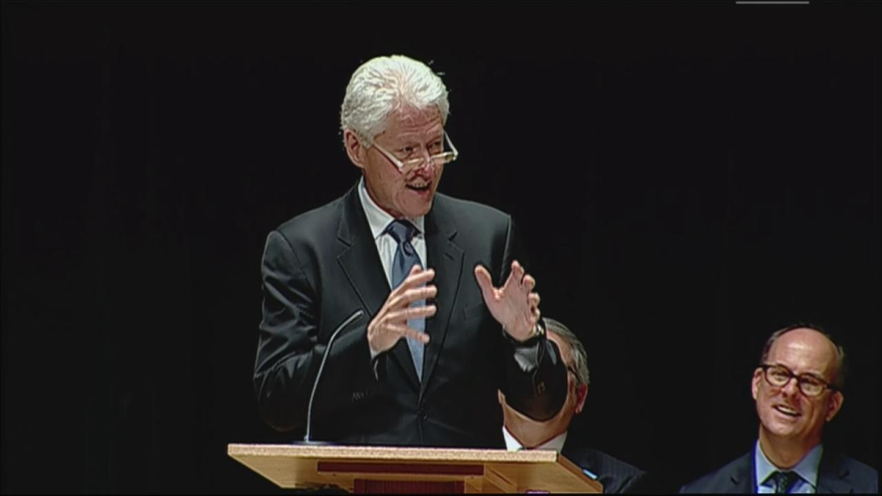 VIDEO: Clinton speaks at Katz memorial