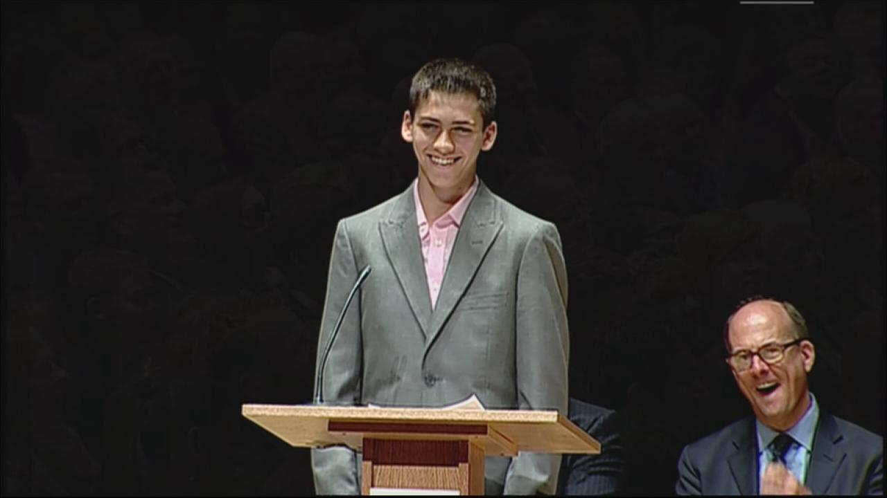 VIDEO: Ethan Silver speaks at Katz memorial