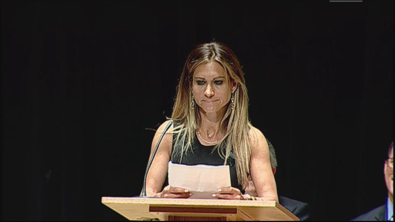 VIDEO: Melissa Silver speaks at Katz memorial