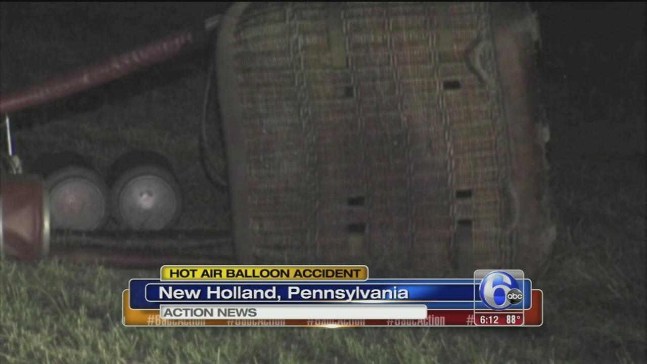 VIDEO: Hot air ballon accident