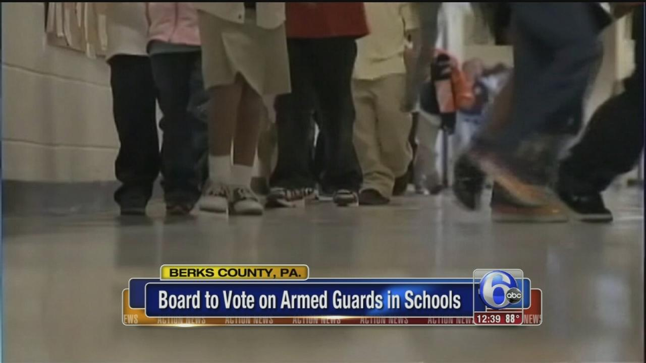 VIDEO: School board to vote on armed guards in schools