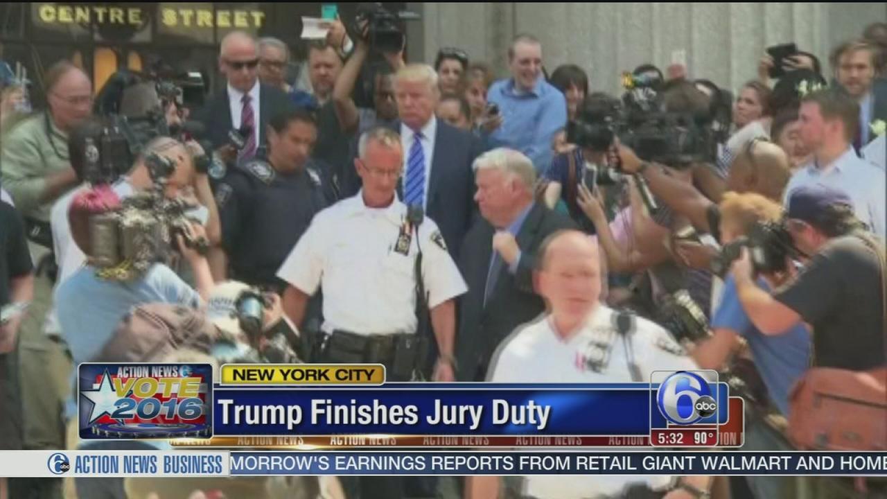 VIDEO: Trump finishes jury duty