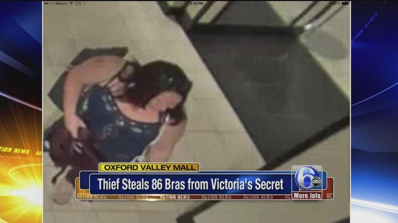VIDEO: Thief steals 86 bras from Victorias Secret