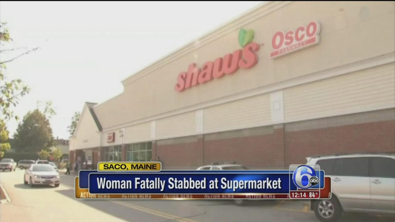 VIDEO: Woman fatally stabbed at Maine supermarket
