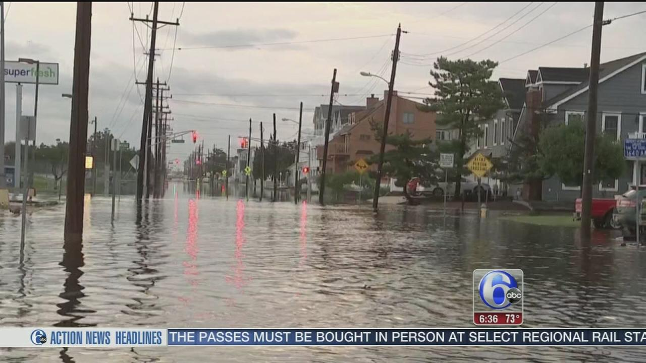 VIDEO: Storms, heavy rains and flooding in North Wildwood
