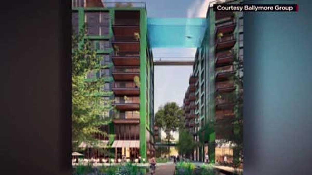 London developers create \'Sky Pool\' in between apartment buildings ...