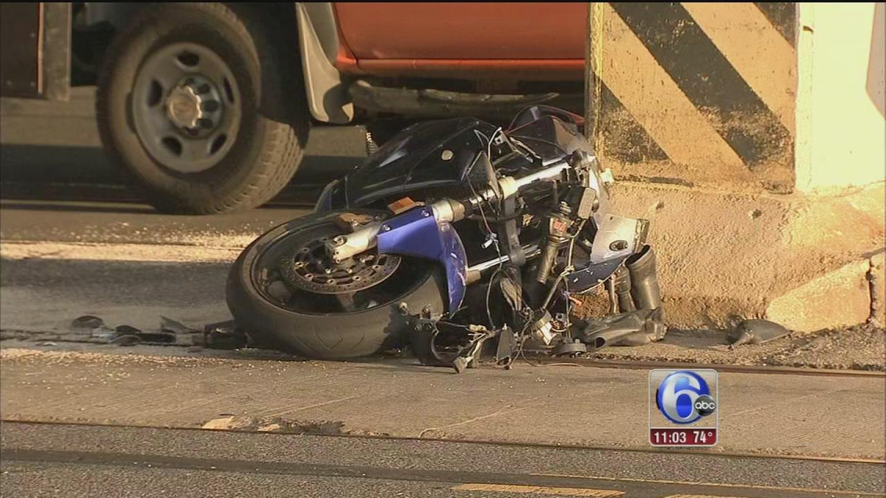 VIDEO: Police recruit injured in motorcycle crash