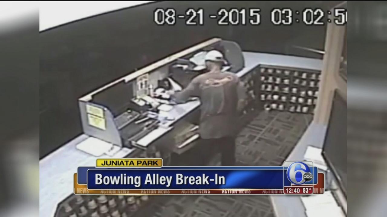 VIDEO: Bowling alley break-in