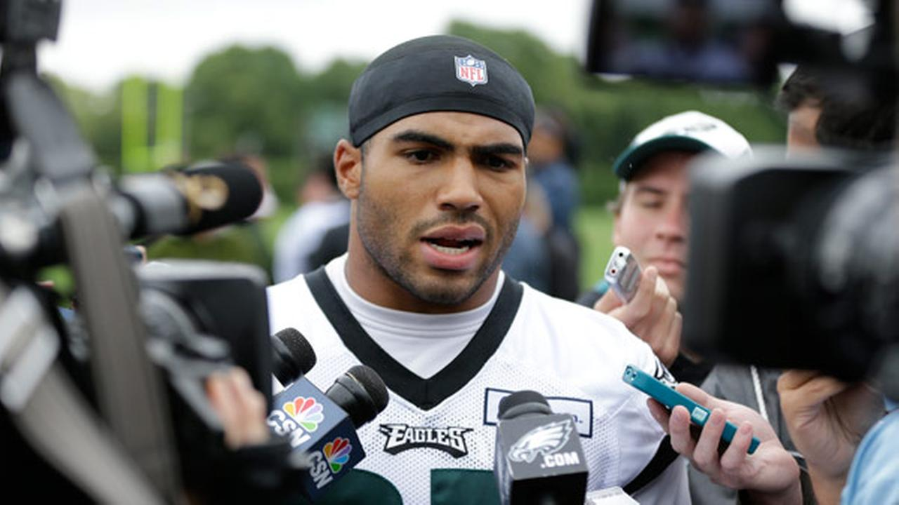 Philadelphia Eagles linebacker Mychal Kendricks speaks with members of the media after organized team activities at the teams NFL football training facility, Tuesday, June 2, 2015
