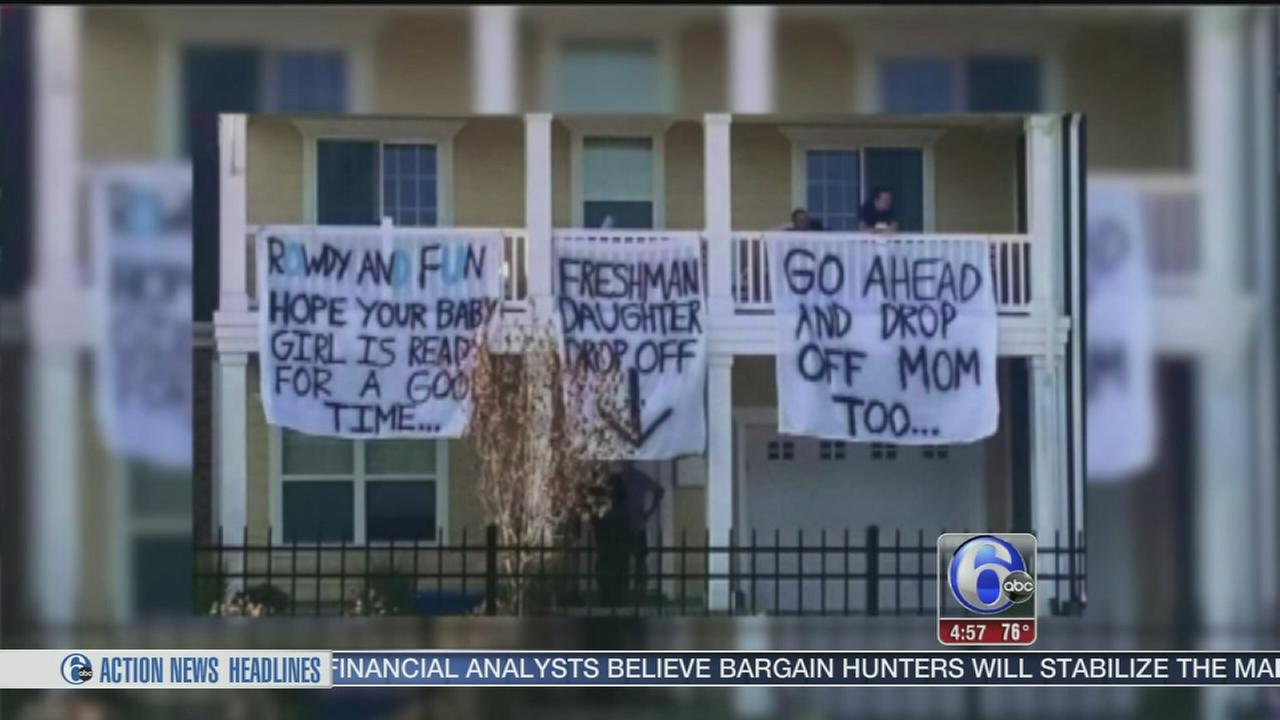 VIDEO: Frat banners cause outrage in Virginia