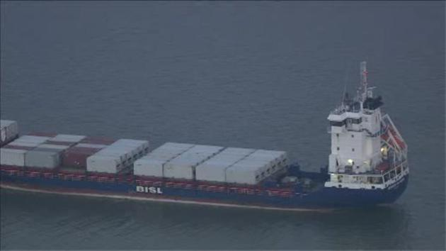 VIDEO: Cargo ship runs aground in the Salem River in New Jersey