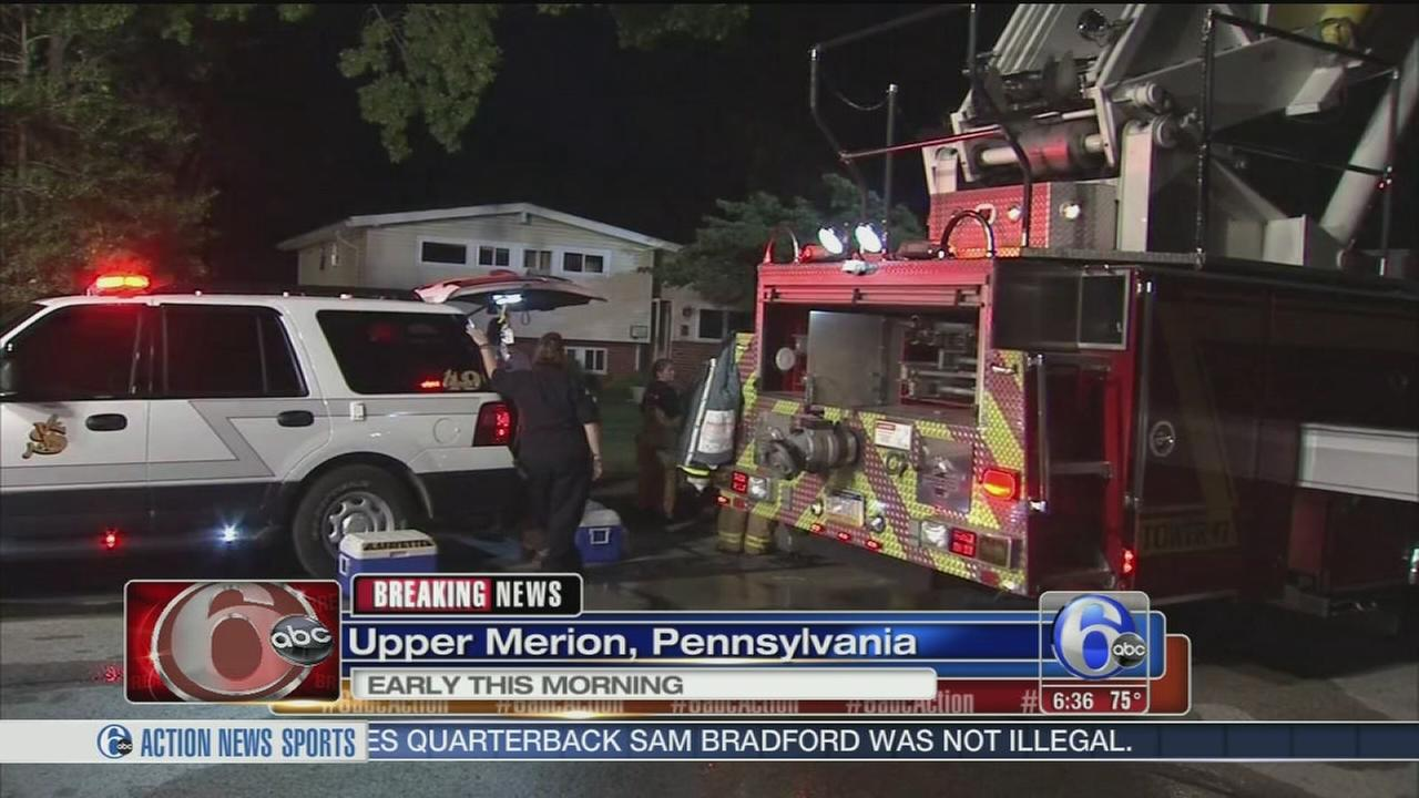 VIDEO: Fire damages home in Upper Merion