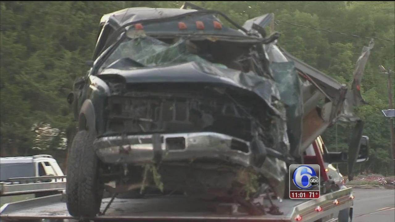 VIDEO: Pedestrian, vehicle passenger killed in Burlington Co. crash