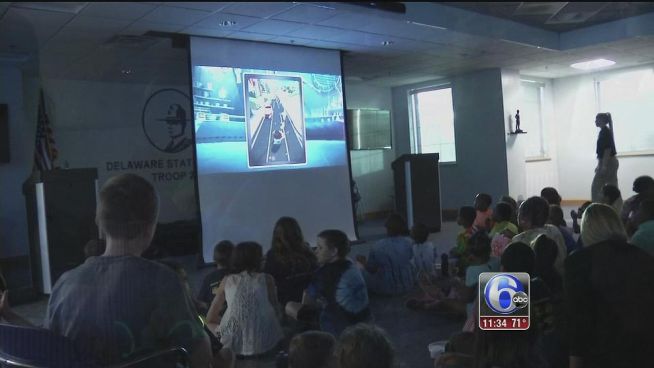 Delaware State police hosts movie night