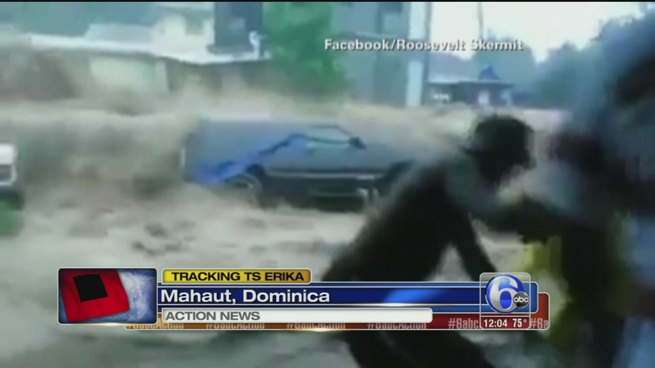 VIDEO: Tropical Storm Erika kills 4 in Dominica