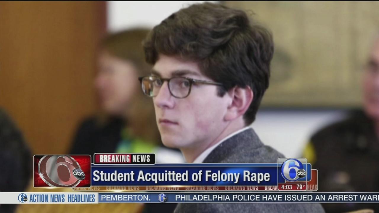 VIDEO: Prep school student acquitted of felony rape