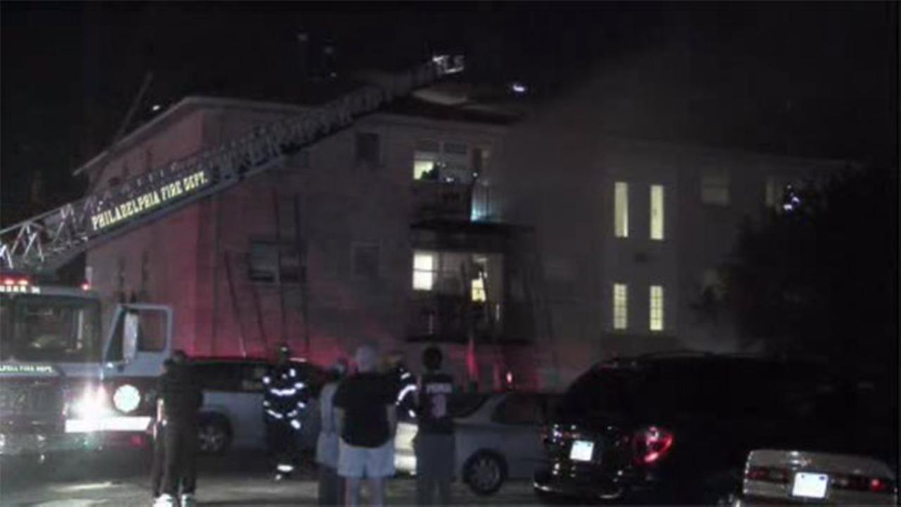 Fire forces dozens from Bustleton apartments